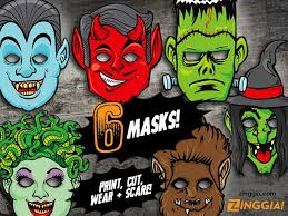 zinggia printable halloween masks mwa ha ha ha paper monster