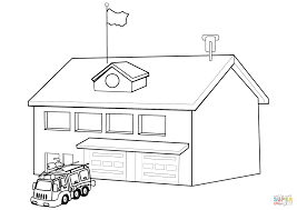 fire department coloring page free printable coloring pages