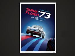 porsche poster porsche poster 911 carrera rsr winner targa florio 1973 selection rs