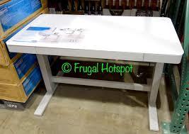 costco folding table adjustable height height adjustable desks costco with regard to standing desk prepare