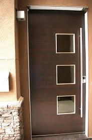 wood door 3 small cut outs exterior doors pinterest front