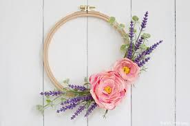 Wreath Diy Embroidery Hoop Spring Wreath Diy 10 Minute Craft