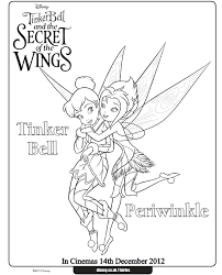 tinkerbell sheets kids coloring