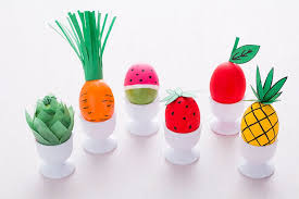 decorations for easter eggs how to decorate easter eggs to look like fruits and veggies brit