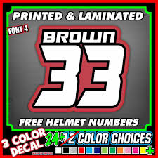 motocross bike numbers 3 dirt bike custom race number name plate decal stickers mx atv go