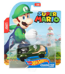 wheels super mario bros 1 64 scale character car luigi