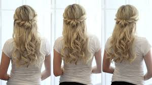 upstyle hair styles soft romantic half up style youtube