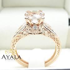 morganite engagement ring gold vintage engagement ring 14k gold morganite engagement