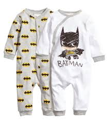 two pajama bodysuits in organic cotton jersey with a printed