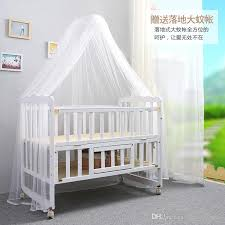 Folding Baby Bed 2016 New Folding Bed Multifunction Wood Crib Baby Bed Height