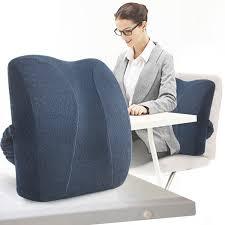 noyoke office nap rest memory foam seat cushion chair back cushion