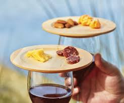 wine glass appetizer plates the green head