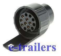 pin to 13 pin plug adapter converter trailer caravan truck towbar