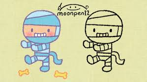 halloween drawings how to draw a cute mummy youtube