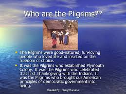 the pilgrims and plymouth plantation ppt