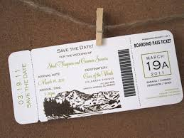 themed invitations mountain themed boarding pass invitation a p design