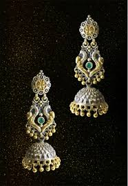 peacock design earrings buy gold and silver peacock design earrings online india tasyah