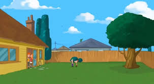 Phineas And Ferb Backyard Beach Game Image Sbty Empty Backyard 1 Jpg Phineas And Ferb Wiki Fandom