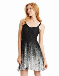 free people foil ombre lace fit flare dress in black lyst