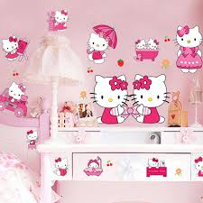 hello kitty bedroom decor sticker cheap kids bedroom decor 3d hello kitty stickers cartoon
