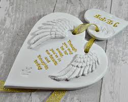 In Memory Of Gifts Personalised Memorial Ornament With Angel Wings In Memory Of Lost Loved