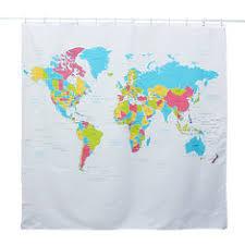 Shower Curtain World Map World Map Buy Cheap World Map From Banggood