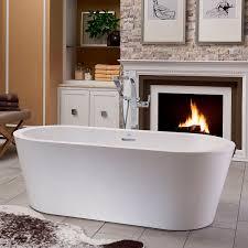 Bathtub Jacuzzi Freestanding Bathtub Oval Acrylic Hydrotherapy Celeste