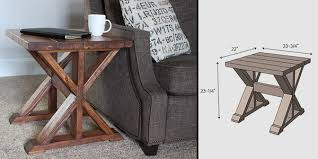 X Side Table Make This Simple Diy X Side Table Made Diy Crafts For