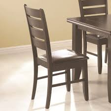 slat back black dining chairs with vinyl seat by coaster 102722