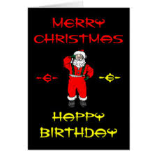 Merry Birthday Card Merry Christmas Happy Birthday Cards Zazzle