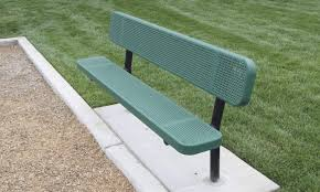 inground punched steel bench pics with extraordinary baseball
