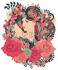 Frisur Lange Haare Nat Lich by Rote Haare Junges Mädchen Lizenzfreie Vektorgrafiken Kaufen 123rf