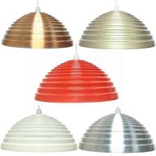 Metal Ceiling Light Shades Stylish 16 Large Metal Stepped Coolie Lshade Ceiling Light