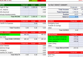 Home Budget Excel Template Weekly Home Budget Template My Excel Templates