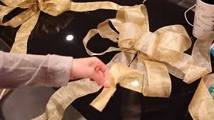 diy deco mesh christmas decor ribbon bow tutorial youtube