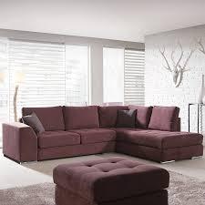 canapé d angle couleur prune canapé angle prune en tissu sofamobili