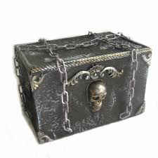 Halloween Party Haunted House Animated Moving Treasure Chest Box Pirates Haunted House Halloween