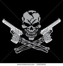 skull in respirator with spray gun free vector 1 160