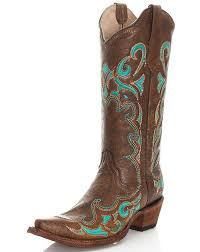 womens boots in size 13 corral s 13 circle g embroidered snip toe boots brown