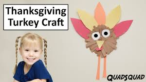thanksgiving turkey craft for kids craft time with ashley youtube