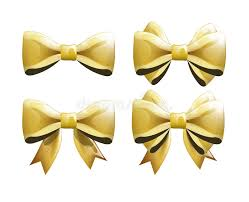 bows for presents set of golden bows for presents or clothing stock vector