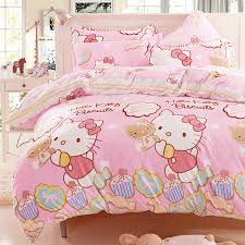 kitty bedding anime bed sheets girls comforters quilts