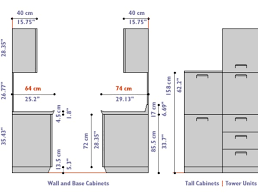 Kitchen Cabinet Dimensions Distance Between Base And Wall Cabinets - Standard kitchen cabinet height