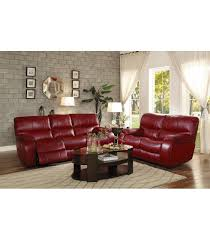 Red Recliner Sofa Pecos Power Reclining Sofa Set Leather Gel Match Red