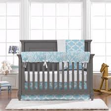 Blue Crib Bedding Set Liz Roo Sky Blue Trellis 4 Bumperless Crib Bedding Set