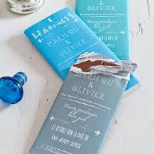 chocolat personnalisã mariage diy mariage 15 idées de cadeaux d invités tablette de chocolat