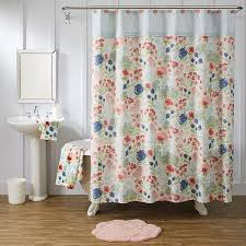 Better Homes And Gardens Bathroom Accessories Walmart Com by Better Homes U0026 Gardens Tranquil Floral Shower Curtain Walmart Com