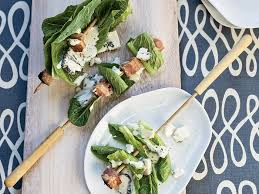 bacon and romaine skewers with blue cheese dressing recipe james