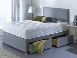 Divan Bed Set Grey Memory Foam Divan Bed Set With Mattress And Headboard 3ft