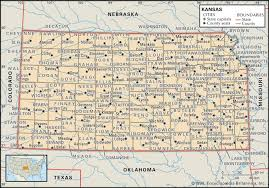 Oklahoma Counties Map State And County Maps Of Kansas